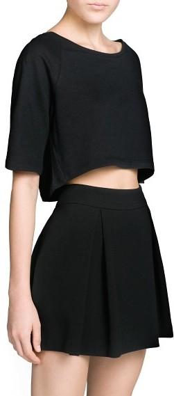 MANGO Outlet Cotton Cropped T-Shirt