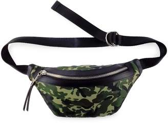 Fashion Focus Zip Camo Nylon Belt Bag