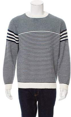 Barneys New York Barney's New York Striped Crew Neck Sweater