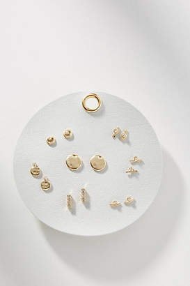 Anthropologie Organic Shapes Earring Set
