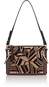Chloé Women's Roy Small Leather & Flocked Fabric Shoulder Bag - Brown
