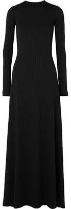 Michael Lo Sordo Open-back Ribbed Stretch-jersey Maxi Dress - Black