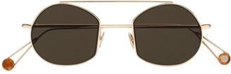 AHLEM champagne metallic sunglasses