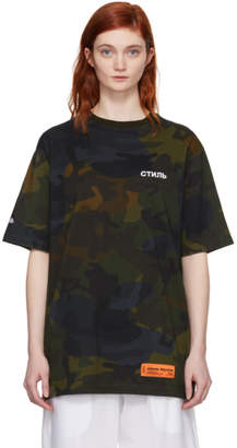 Heron Preston Multicolor CTNMB Camouflage T-Shirt