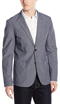 Original Penguin Men's Slub Cotton Croshort Sleevehatch 2-Bttn JKT Slim