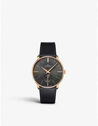 Junghans 027/5903.00 Meister Hand-winding stainless steel and leather watch