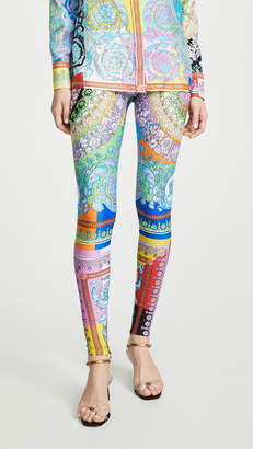 Versace Technicolor Baroque Leggings