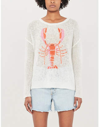 Wildfox Couture Rock Lobster boat-neck knitted jumper