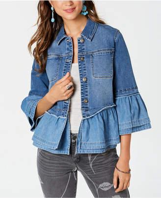 Style&Co. Style & Co Ruffled Denim Jacket