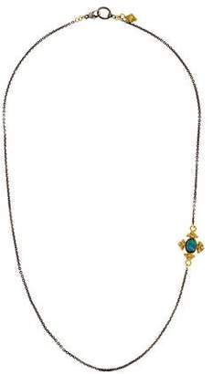 Armenta Opal & Diamond Pendant Necklace