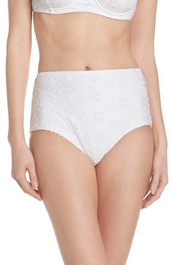 Women's Kate Spade New York Half Moon Bay High Waist Bikini Bottoms