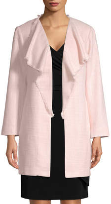 Karl Lagerfeld Tweed Waterfall Blazer