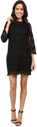Laundry by Shelli Segal 3/4 Sleeve Lace Dress w/ Scallops Women's Dress