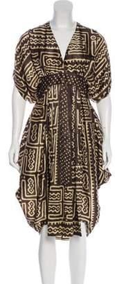 Givenchy Silk Tribal Dress Silk Tribal Dress