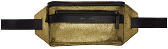 Jimmy Choo Gold and Black Oscar Metallic Pouch