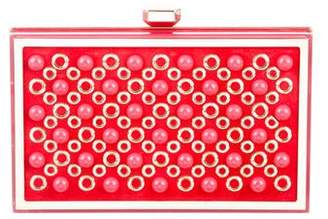 Elie Saab Embellished Box Clutch