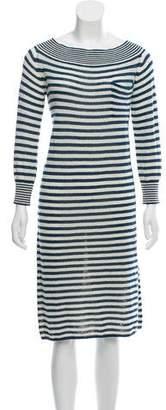 Louis Vuitton Striped Off-The-Shoulder Dress w/ Tags