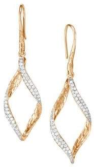 John Hardy 14K Yellow Gold Diamond Drop Earrings