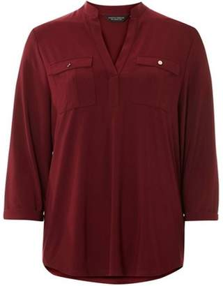Dorothy Perkins Womens Wine Red Utility Shirt