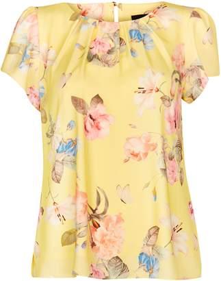 db034437d0794 WallisWallis Yellow Floral Print Top