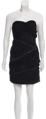 Alice + Olivia Embellished Strapless Dress