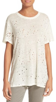 Women's Iro Distressed Linen Tee $155 thestylecure.com