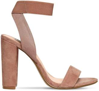 Steve Madden 100mm Celebrate Elastic & Suede Sandals