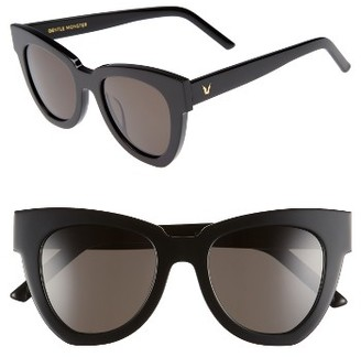 Women's Gentle Monster Laser 51Mm Cat Eye Sunglasses - Black $230 thestylecure.com
