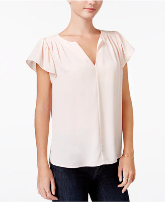 Maison Jules Flutter-Sleeve Top, Only at Macy's $59.50 thestylecure.com