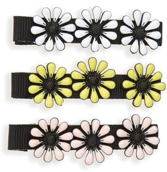 Tasha Set of 3 Enamel Daisy Hair Clips