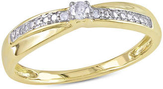 JCPenney MODERN BRIDE Diamond-Accent 10K Yellow Gold Promise Ring