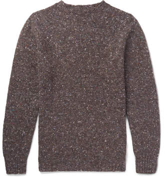 Anderson & Sheppard Donegal Wool And Cashmere-Blend Sweater