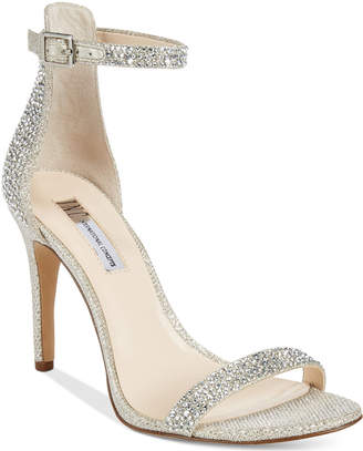 INC International Concepts Women's Roriee Rhinestone Ankle-Strap Dress Sandals, Only at Macy's $99.50 thestylecure.com