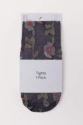H&M Floral Tights - Black