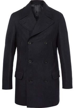 Kingsman Herringbone Wool And Cashmere-Blend Peacoat