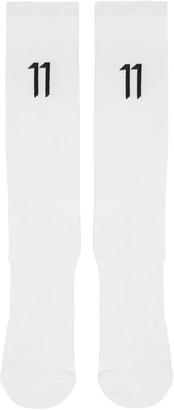 11 by Boris Bidjan Saberi White Classic Sport Logo Socks $50 thestylecure.com