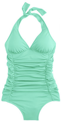 J.Crew Ruched halter tank