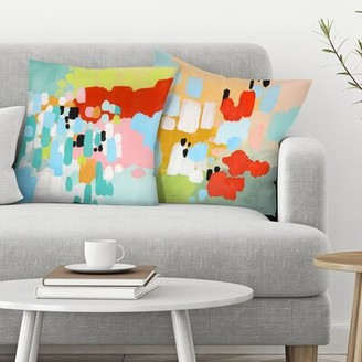 East Urban Home Annie Bailey 2 Piece Driving in the Country and Beating Hearts Throw Pillow Insert Set East Urban Home
