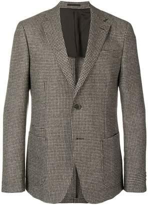 Ermenegildo Zegna houndstooth pattern blazer
