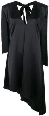 MSGM cape detail asymmetric-hem dress