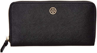 Tory Burch Robinson Zip Continental Leather Wallet