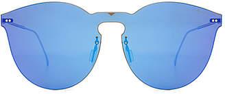 illesteva Leonard II Mask Sunglasses in Metallic Gold. $190 thestylecure.com