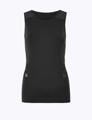 Marks and Spencer Quick Dry Mesh Panelled Vest Top