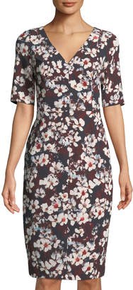 Black Halo Javette Floral Sheath Dress