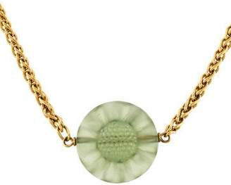 Lalique Sunflower Crystal Pendant Necklace