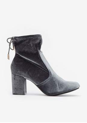 Wallis Grey Back Tie Ankle Boot