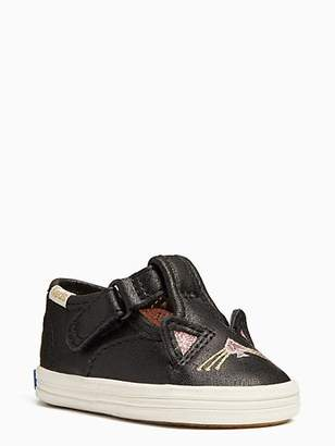 Kate Spade Keds X Hayden Cat T-strap Sneakers, Black - Size 1