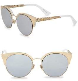 Christian Dior Diorama Mini 54MM Mirrored Cat Eye Sunglasses