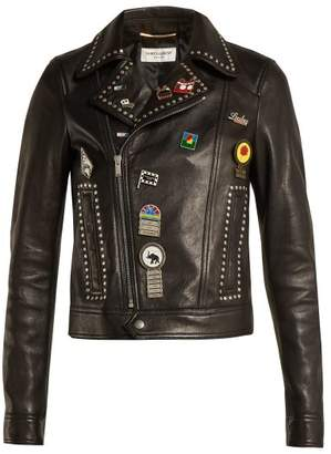 Saint Laurent Motorcycle Leather Jacket - Womens - Black Multi