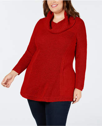 Style&Co. Style & Co Plus Size Cowl-Neck Tunic Sweater
